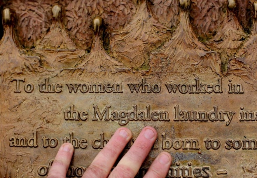 A plaque dedicated to Magdalene Laundry survivors in St Stephen's Green in Dublin. Photo: PA