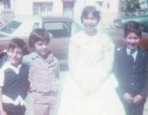 Rose Marie Wiseman is pictured with her cousins at her first Holy Communion at Our Lady of Health Parish in Las Cruces in 1978.