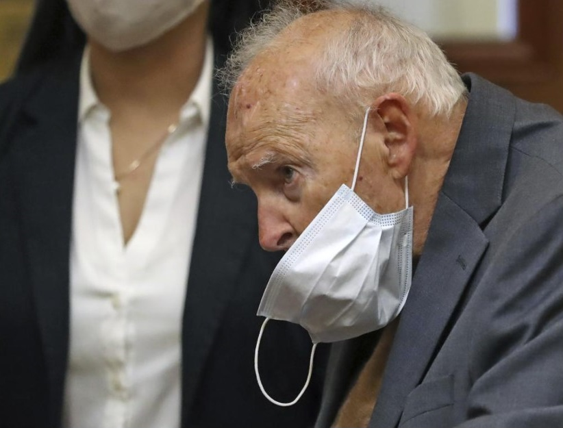 Former Roman Catholic Cardinal Theodore McCarrick appears for a arraignment at Dedham District Court on Friday, Sept. 3, 2021 in Dedham, Mass. McCarrick has pleaded not guilty to sexually assaulting a 16-year-old boy during a wedding reception in Massachusetts nearly 50 years ago. (David L Ryan / The Boston Globe via AP, Pool)