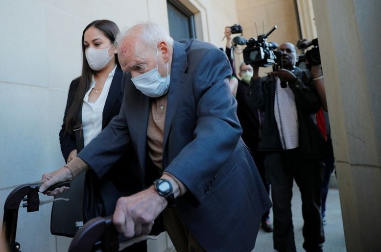 Theodore McCarrick arriving in court Friday in Dedham, Mass. -- Photo: Brian Snyder / Reuters