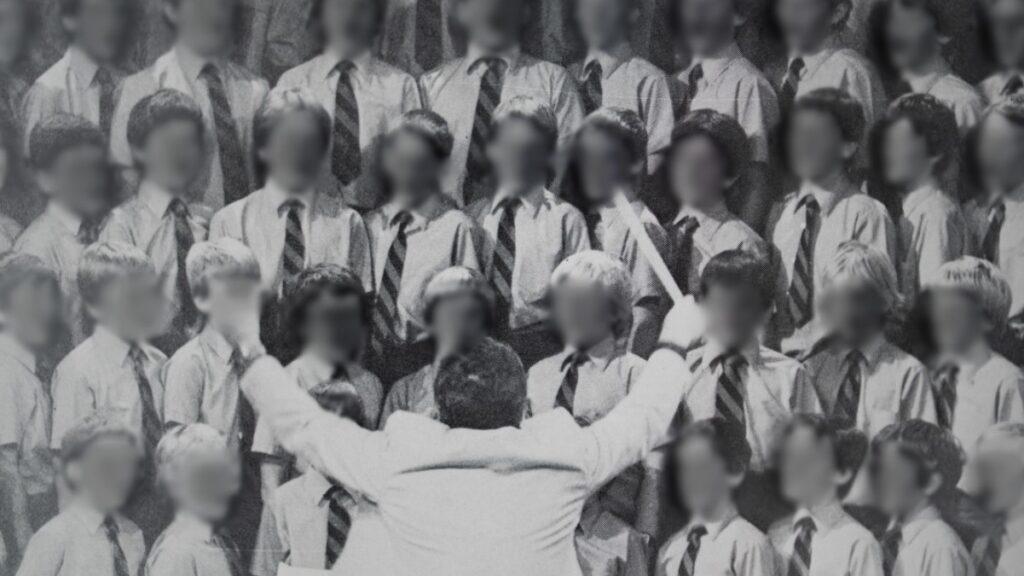 McMahon taught the choir during his time at Aquinas in Perth. ABC News: Hugh Sando