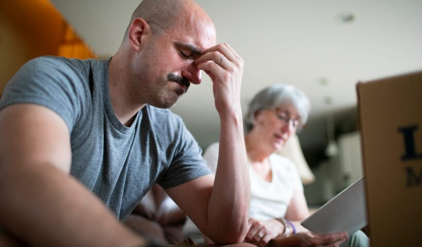 Hide caption Chris Graham cries as his mother, Lynne, reads an essay that he wrote about his faith while in college. Graham was emotional because he didn't remember his 1997 rape by the Rev. Raymond Lavelle at the time he wrote it. COURTNEY HERGESHEIMER/COLUMBUS DISPATCH