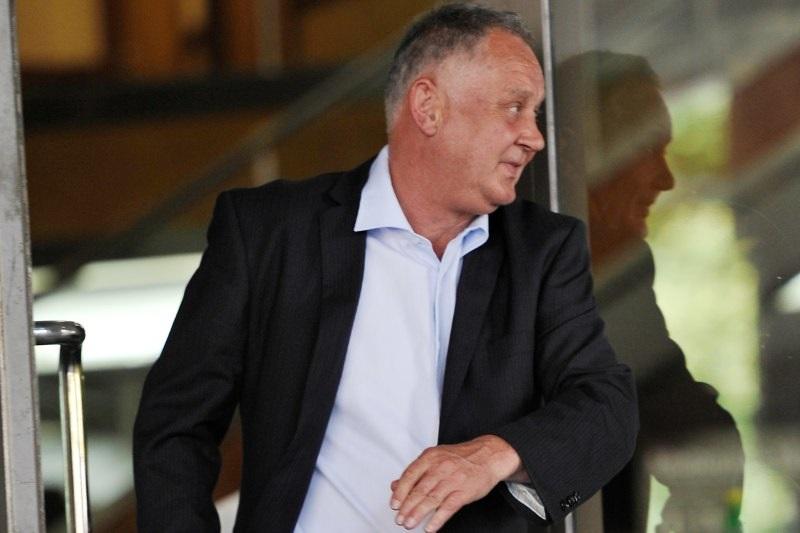 David Rapson leaving the Melbourne Magistrates Court in 2012.CREDIT:JUSTIN MCMANUS