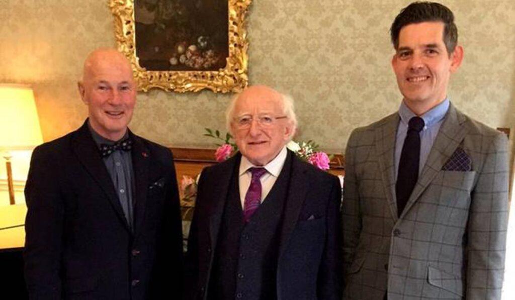 Bernard-Lynch with President Michael D Higgins and husband Billy Desmond