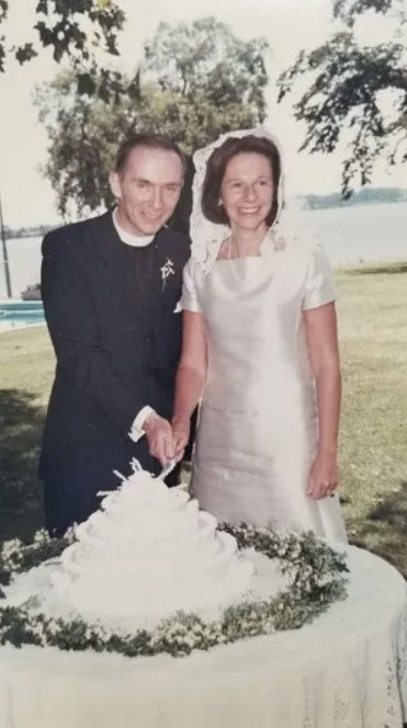 Al Shands and his wife, Mary Norton, at their wedding. Special to the Courier Journal