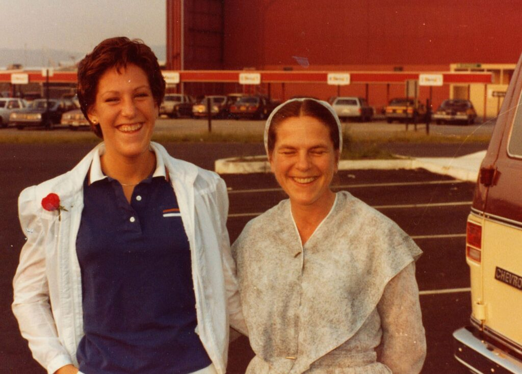 Patty Bear, left, stands with her mother Gale Bear before heading to Colorado Springs, Colo., to the Air Force Academy. COURTESY OF PATTY BEAR