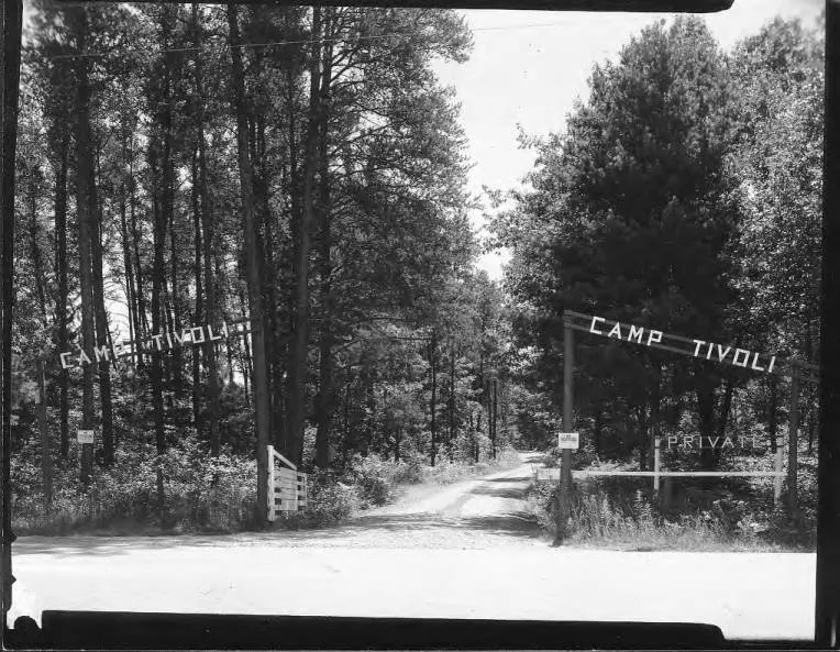 The entrance to Camp Tivoli. St. Norbert College