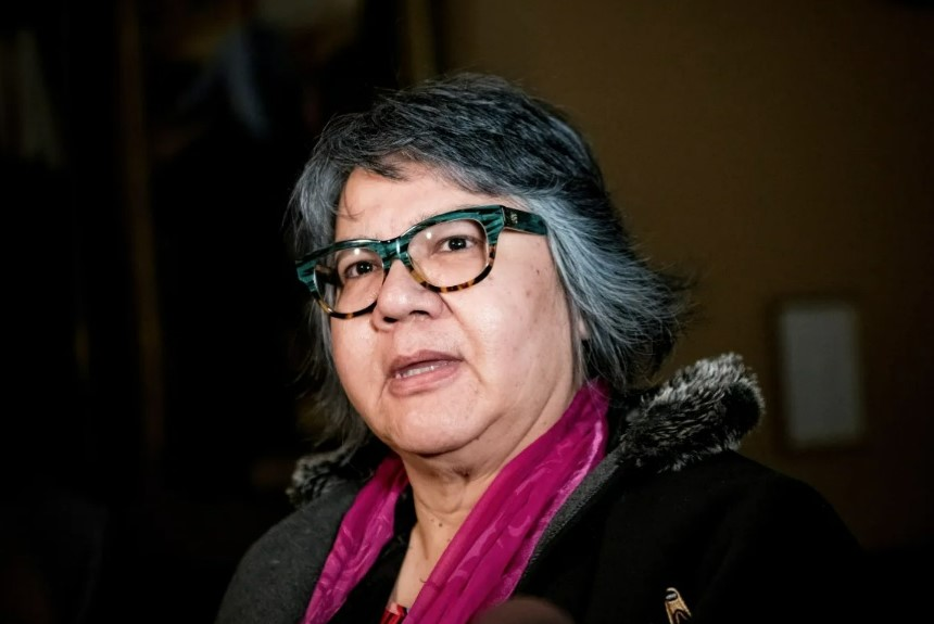 Assembly of First Nations National Chief RosAnne Archibald wants to see the Pope apologize in Canada for the Catholic Church's treatment of Indigenous people. (Christopher Katsarov / The Canadian Press)