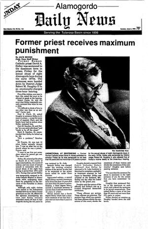 Alamogordo Daily News coverage of Fr. David Holley's conviction in 1993. Holley was convicted of child sexual penetration. Courtesy Of Phil Saviano